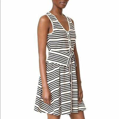 Opening Ceremony Striped Knit Button Front Dress Sz M