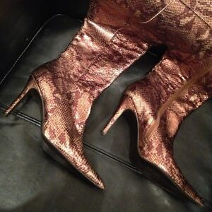 Colin Stuart Snakeskin leather knee-high boots London Ontario image 1