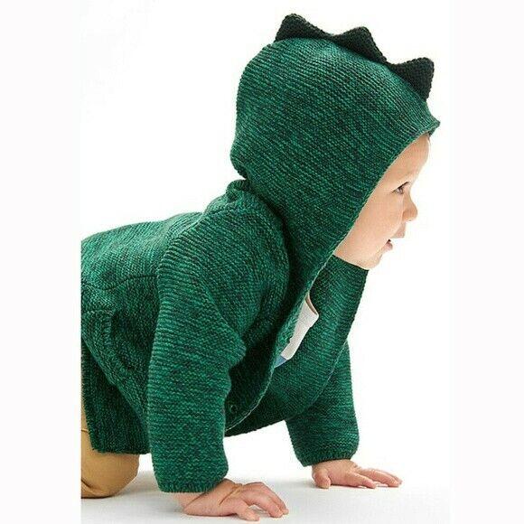 BNWT Baby GAP Dinosaur Garter Cardigan Hooodie Size 12-18 months