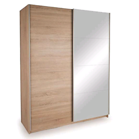 The Ellum Oak sliding door mirror wardrobe