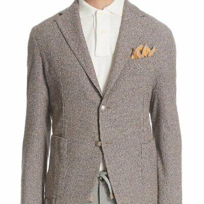 ELEVENTY Mens Slim Fit Houndstooth Cotton Blend Sport Coat Sz 52It/42us NWT$995