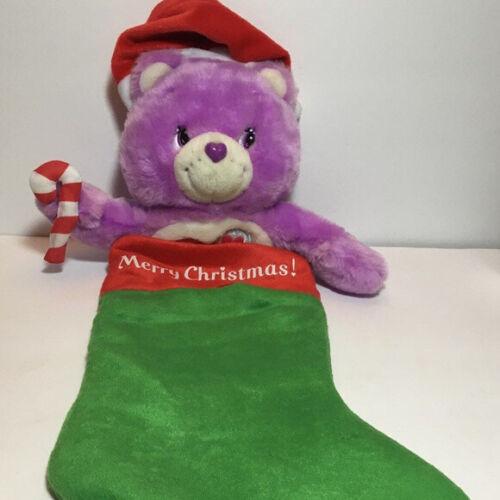 Care Bears Plush Christmas Stocking Share Bear Purple 2005