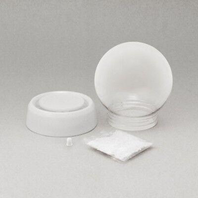 Fun DIY! Round Plastic Make-Your-Own Snow Globe Kit w White Base  ()