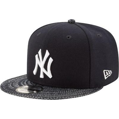 New York Yankees Dark Navy White Knit Visor Fresh New Era 9Fifty Snapback Hat