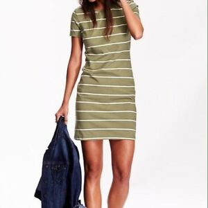 Women's Old Navy green white striped shift dress Small NWT London Ontario image 1