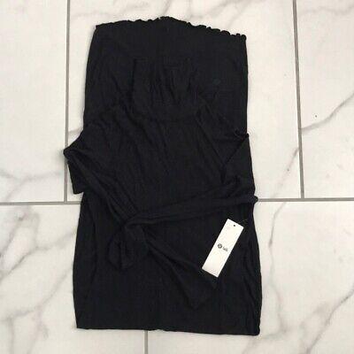Lululemon Lab Nai Dress Black Cashmere Size 6-8 New $168