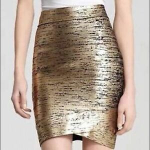 BCBG Bandage Skirt NWT - Gold & Black
