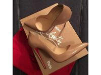 Christian Louboutin So Kate Size 6 Nude with box
