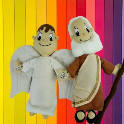 "Christian Plush Dolls - Angel & Moses - Soft, Cuddly Educational 12"" High"