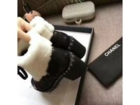 Chanel Ankle Fur Boots