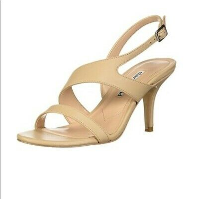 David Heels Sandals Shoes (Charles David Carmina slingback heeled sandals nude leather 12M store)