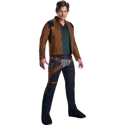 Rubies Han Solo Star Wars Adult Costume Jacket Pants Holster Belt Halloween NEW - Han Solo Costume Belt