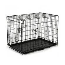 BUDGET XL Collapsible Metal Pet /Dog Puppy Crate-PLASTIC TRAY Kingston Logan Area Preview