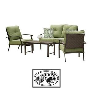 NEW HAMPTON BAY 4 PIECE PATIO SET - 130439212 - SOUTH COMMON