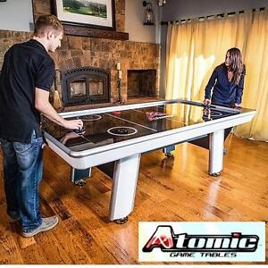 NEW* ATOMIC 8' AIR HOCKEY TABLE AVENGER - LED DISPLAY AUTO SCORE KEEPING GAME ROOM RECREATION TABLE ARCADE GAMES