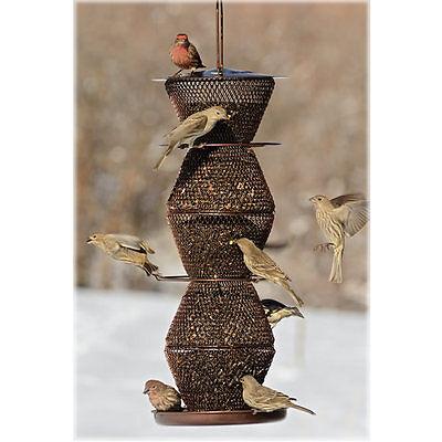 No/No Bronze 5 Tier Bird Feeder (BZ500333) Holds 5 Lb+ Black Oil Sinflower Seed