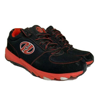 Heelys Shoes Mens Size 8 Black Red Wheeled Sneakers Athletic Fun