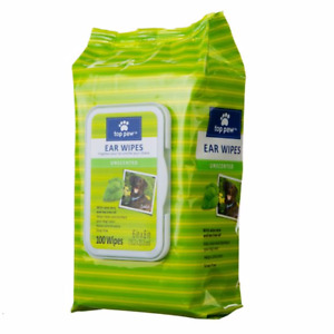 New Top Paw Package Of 100 Dog  Ear Wipes