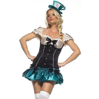 Leg Avenue Tea Party Princess Costume Set Size Medium Large M/L Mad Hatter Sexy (Mad Hatter Tea Party Costume)