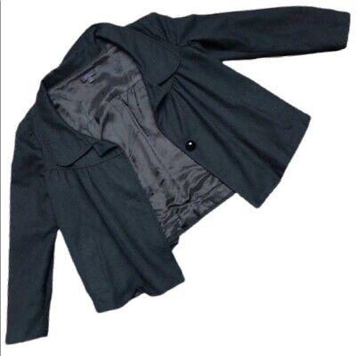 SALLE PRIVÉE Black Wool Button Up Coat