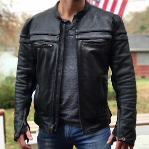 Motorcycle leather jacket Large - First Classics