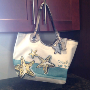 Authentic Coach Purse with Dust Jacket