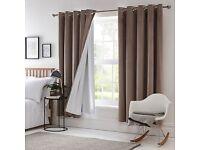 "DUNELM Blackout Eyelet Curtain Linings - Size: W 229cm (90"") x D 229cm (90"")"