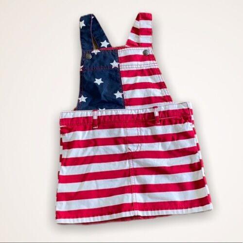 Patriotic USA 4th of July Bib Skirt Size Girls 5T NWT