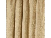 Curtain - Kensington Gold Pencil Pleat curtain from Dunelm ( Pair of two Curtains & 4 tie back)