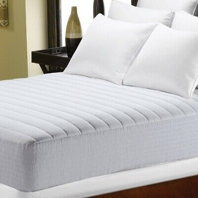 BETTER HOMES & GARDENS QUILTED COMFORT MATTRESS PAD, WHITE, TWIN *DISTRESSED