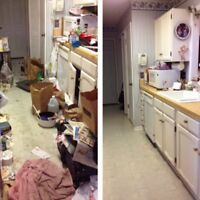 Decluttering & cleaning