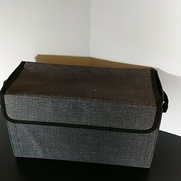 Thirty-One Get Creative Case Charcoal Crosshatch NIP