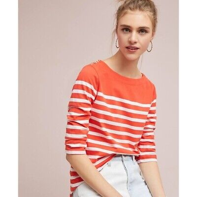 Anthropologie BONNIE BOAT-NECK TOP size M new nwt