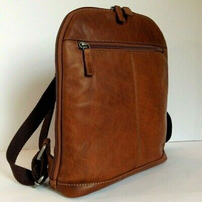 Jack Georges Convertible Backpack Crossbody Bag Honey Brown Leather New $222 Jack Brown Leather