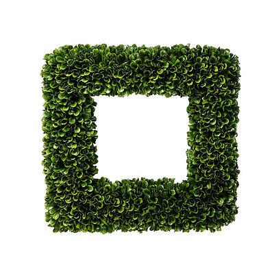 Fake Boxwood Wreath (Faux Boxwood Square Wreath 14