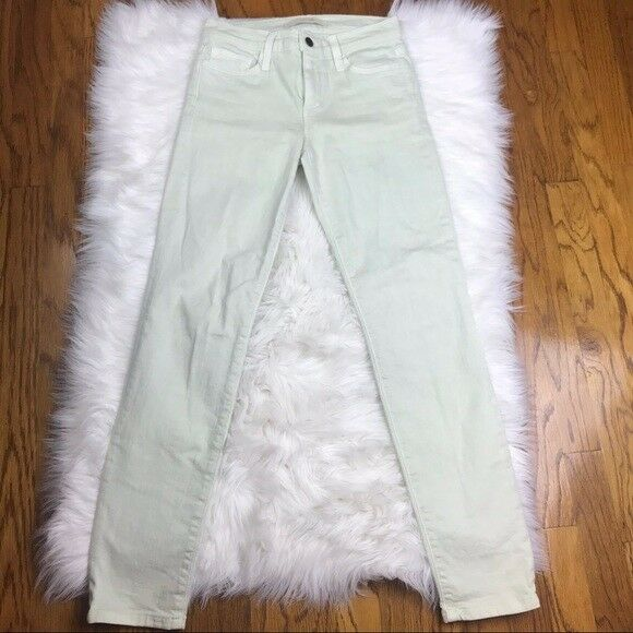 Joe's Straight Ankle Mint Green Jeans Size 25 FREE