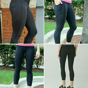 LULULEMON SIZE 12 CROPPED BLACK 'ALL THE RIGHT PLACES' PANT