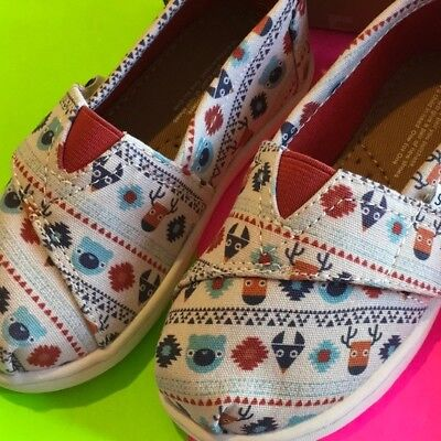 TOMS Kids Baby Girl's Birch Multi Critters Size 11 Toddler
