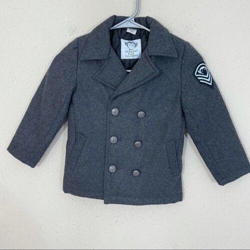 Appaman Wool Pea Coat Jacket Gray Size 5