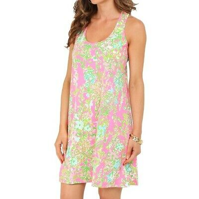Lilly Pulitzer Melle Dress Flamingo Pink Southern Charm Large
