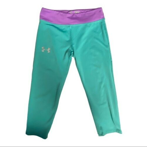 Under Armour Teal Capri Pants Fitted Size Youth Medium