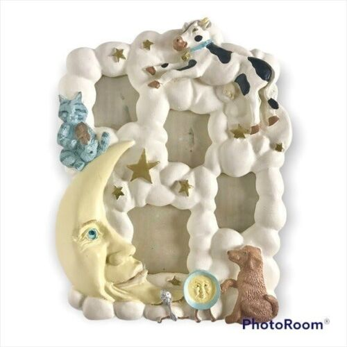 Hey Diddle Diddle Nursery Rhyme Whimsical 3D Frame For 4 Small Pictures