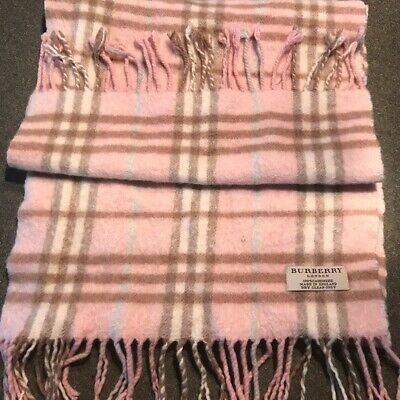 Burberry Light Pink Classic Plaid Checker Women's Scarf