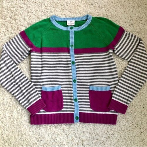 Hanna Andersson Striped Cardigan Button Up 160, Girls 14, Multicolor