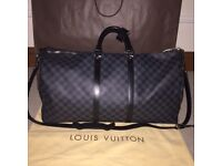 100% authentic Louis Vuitton keepall 55 damier graphite