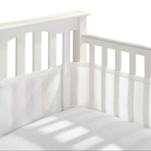 BreathableBaby Breathable Baby Mesh Crib Liner Crib Bumpers White