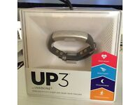 Jawbone UP3 Heart Rate Activity and Sleep Tracker - Tiger Eye Twist