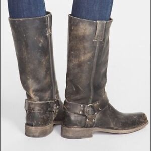 Frye Harness Tall Boots 7.5 Perfect Condition