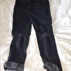 Black Mom jeans from garage