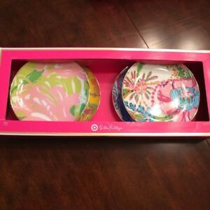 "8pc LILLY PULITZER 8""  ISLAND PLATE SET"